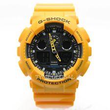 Casio G-Shock GA-100A-9A Yellow Resin Analog Digital Men's Sport Fashion Watch