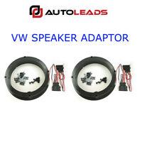 VW GOLF MK4 BORA PASSAT BEETLE FRONT REAR DOOR SPEAKER ADAPTOR KIT RINGS SPACERS