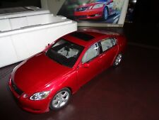New Dealer Boxed Genuine Lexus GS430 1:18 Sedan Rare Red Metallic. AutoART Model