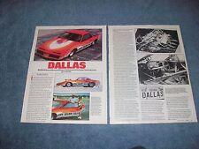 "1983 Pontiac Firebird Vintage Super Gas Drag Car Article ""Dallas"""