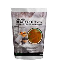 CHICKEN BONE BROTH  POWDER With Turmeric & Cracked Pepper PROTEIN NATURAL