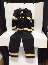 Pottery Barn Kids Halloween Pretend School Firefighter fire man Costume 9-10 new