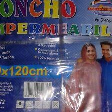 AFFARE PONCHO IMPERMEABILE PIOGGIA UNISEX 90x120 UOMO DONNA STADIO TASCABILE
