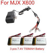 X3 7.4V 700MAH Batterie + Chargeur+3 en 1 Câble Pour MJX X600 Hélicoptère RC