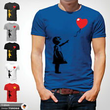 Banksy Balloon T Shirt Mens Tshirt Blue T-Shirt Artist Large Cotton XXL 3XL
