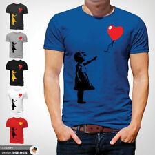 Banksy Balloon T Shirt Mens Tshirt Blue T-Shirt Artist Large Cotton XXL 3XL