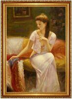 Ölbild erotische Frau, Akte, Erotik ,Ölgemälde HANDGEMALT,Gemälde 60x90cm