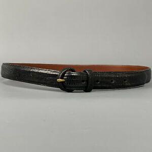 POLO by RALPH LAUREN Size 36 Black Lizard Belt