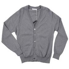 NWT $550 BALLANTYNE Gray Merino Wool Cardigan Sweater S Small