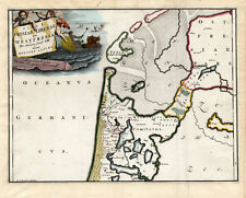 Antique Map-FRIESLAND-NETHERLANDS-NEPTUNE-Alting-1697