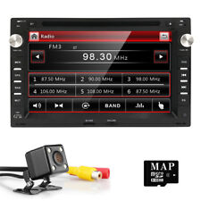"""7"""" In Dash 2 DIN Car DVD Player Radio Stereo GPS Navigation For VW Polo Golf+Cam"""
