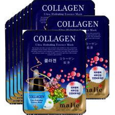 Collagen  Face Mask Pack Sheet Moisture Essence Facial Ultra Skin Care 10pcs