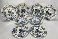 Alfred Meakin Medway Dinner, Salad Plate, Soup Bowl Set England Blue Mixed