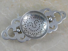 Early William Spratling Sterling Tea Strainer with Smiling Sun Taxco Mexico 1940