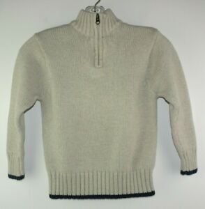 Old Navy Long-Sleeve Sweater Tan Size S (Small) Quarter Zip Mock Turtle Neck