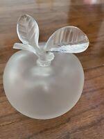 "Lalique Nina Ricci GRANDE POMME Crystal 5.75"" Apple Perfume Bottle"