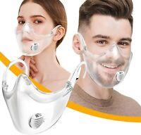 Clarity Face Shield for Adult, Face Masks Reusable Clear Transparent 1 PCS