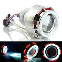 "35W 2.5"" Universal Motorcycle Xenon HID kit Dual Angel Eyes Projector Headlight"