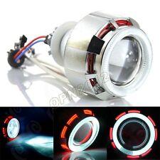 "35W 2.5"" Universal Motorcycle Xenon HID kit Dual Angel Eyes Projector Headlight"