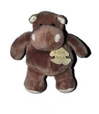 Histoire d'ours Peluche doudou Hippopotame 14 cm