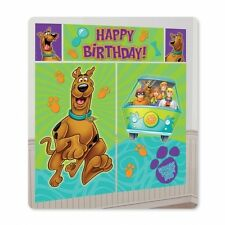 5 PC SCOOBY DOO BIRTHDAY PARTY WALL SCENE SETTER ROOM DECORATION BANNER