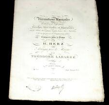 6 airs arrangés pour la harpe par Théodore Labarre 1ère suite des 24 rondos 1835