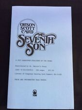 SEVENTH SON - SIGNED UNCORRECTED PROOF BY ORSON SCOTT CARD
