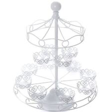 White Carousel Cupcake Stand Merry Go Round Cake Baking Display Wedding
