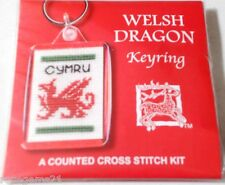 WELSH DRAGON - KEYRING Counted Cross Stitch KIT