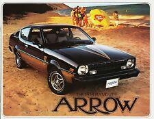 1978 Plymouth Arrow Arrow GS Arrow GT Dealer Sales Brochure