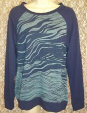 NWT JOSIE NATORI S SMALL SLEEP/NIGHT SHIRT LOUNGE TOP SOFT! Blue Zebra Print $58