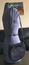 Bottega Veneta Woven Leather Snakeskin Handbag Bag Black BARRIE CHASE COLLECTION
