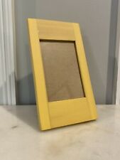 """New Pottery Barn Yellow  4""""x6"""" Picture Frame Painted Wood Finish"""
