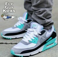 Authentic Nike Air Max 90 Hyper Turquoise Blue White Grey Black CD0881-100