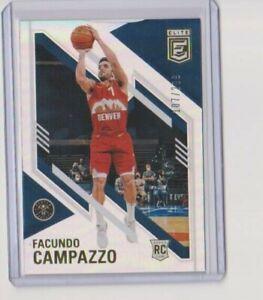 2020-21 Panini Elite Facundo Campazzo Silver Rookie 107/299 Nuggets RC