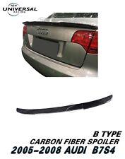 Carbon Fiber Rear Trunk Spoiler Wing For 2005-2008 Audi S4 B7 Sedan 4dr Type B
