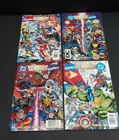 DC Versus Marvel #1 - 4 VF/NM Set 1996