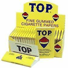 Top Fine Gummed Rolling Papers 24 Booklets