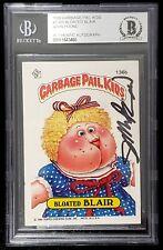 "JOHN POUND Signed 1986 Garbage Pail Kids ""BLOATED BLAIR"" #136B BECKETT SLABBED"