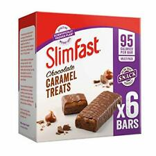 SlimFast Chocolate Caramel Snack Bar Multipack, Pack of 5 Boxes - 30 Bars