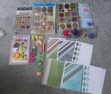 Job Lot Card making embellishments card stock, stickers, foam shapes