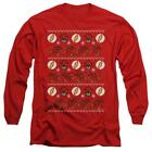 Flash, The The Flash Ugly Christmas Sweater - Men's Long Sleeve T-Shirt
