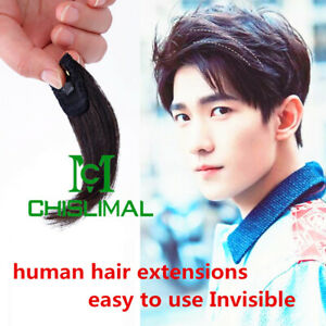 4 colors Mini Invisible Clips In Human Hair Extensions for Men Clip In hair