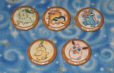 Vintage Pokemon Center Cooking Club Magnet Set of 5 Chikorita Cyndaquil Totodile