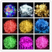 9 Colours 300 LED 30M Fairy String Lights Christmas Tree Xmas Party Wedding