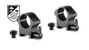 HAWKE 23101 Profi Stahl Ringmontagen Weaver Mittel 1 Zoll Höhe 44mm Schnellspann