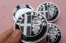 4pcs 60mm for Alfa Romeo Black Car Wheel Center Hub Cap Badge Aluminium Logo