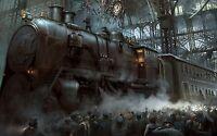 """Steampunk City 002 Art - Gallery Grade Canvas Wall Art 20""""x30"""""""