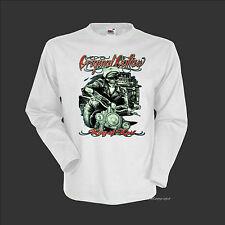 * 4063 LS Biker camuflaje Camiseta vintage rocker motocicleta motivo