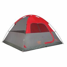 One Coleman Flatwoods II WeatherTec 6 Person Tent - Red/Gray NEW